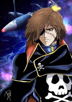 Captain Harlock - anime fanart
