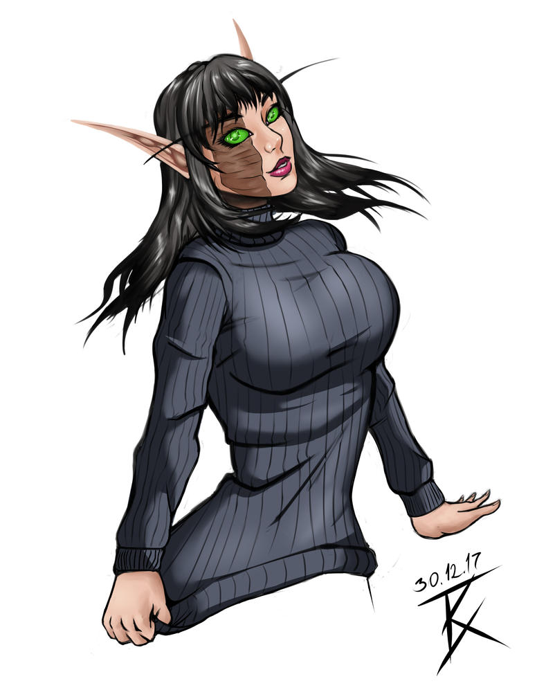 Katriada's Sweater by GeneralBloodrain