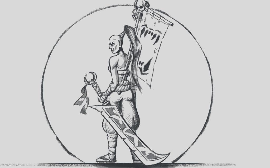 Azukuni sketch by GeneralBloodrain