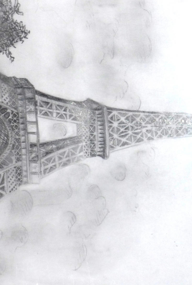 Eiffel Tower Pencil Sketch Eiffel Tower by Sylwia25