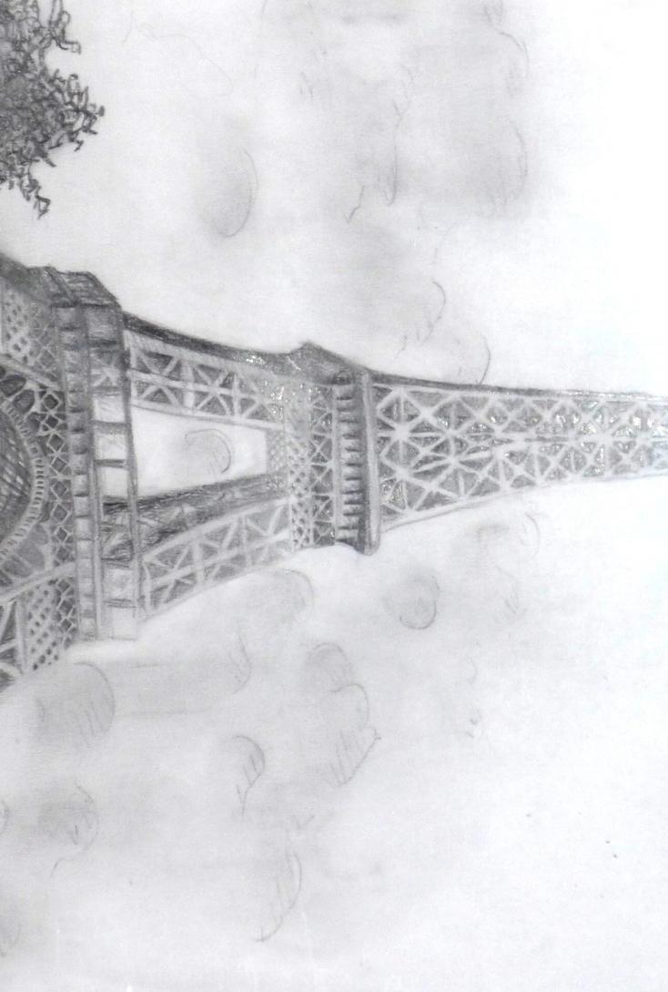 Eiffel Tower Pencil Sketch Eiffel Tower by Sylwia25
