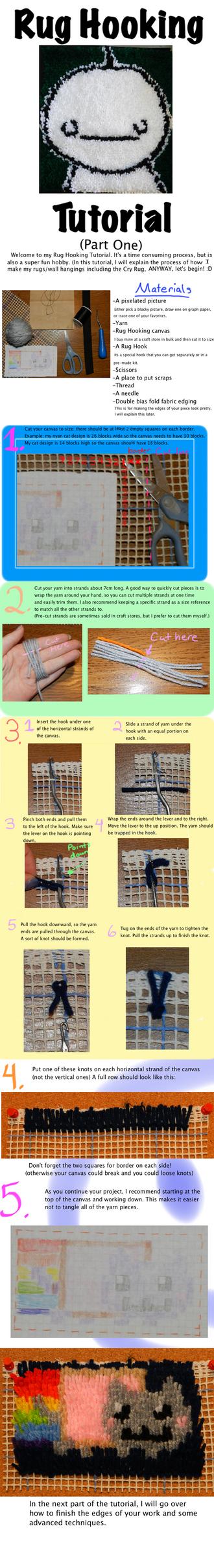 Rug Hooking Tutorial (Part One) by Yoroko666