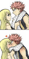 Nalu - Sudden Kiss by chiire
