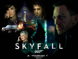 Skyfall Quad Teaser Poster by DogHollywood