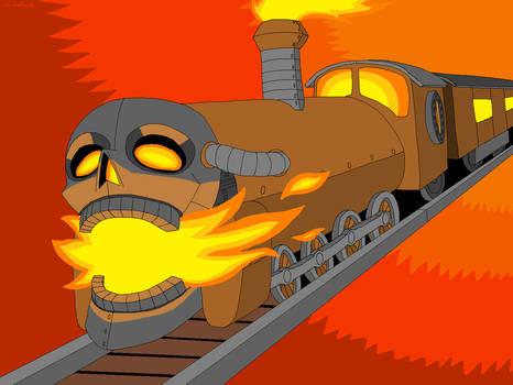 Drawlloween 2019 - Day 18: Scream Train
