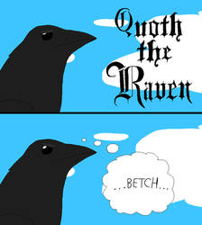 Drawlloween 2019 -Day 22 Quoth The Raven, 'Betch'