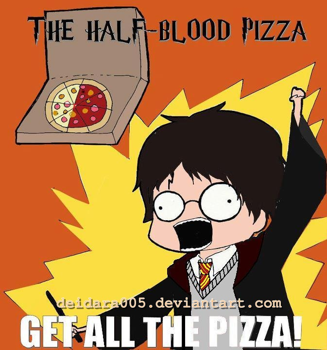 The Half-Blood Pizza: GET ALL THE PIZZA! 8D by deidara005