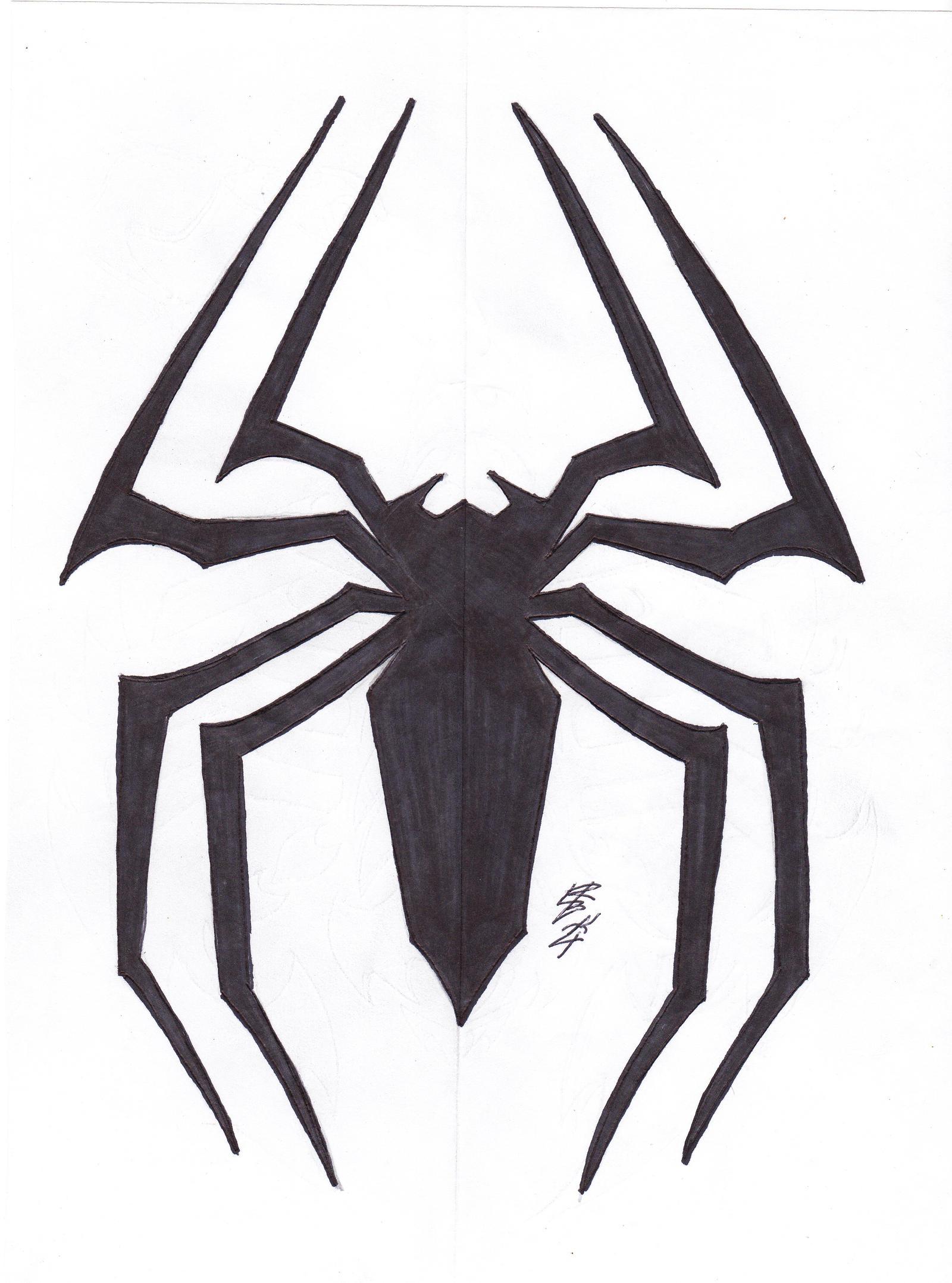 Venom spiderman symbol drawing - photo#13