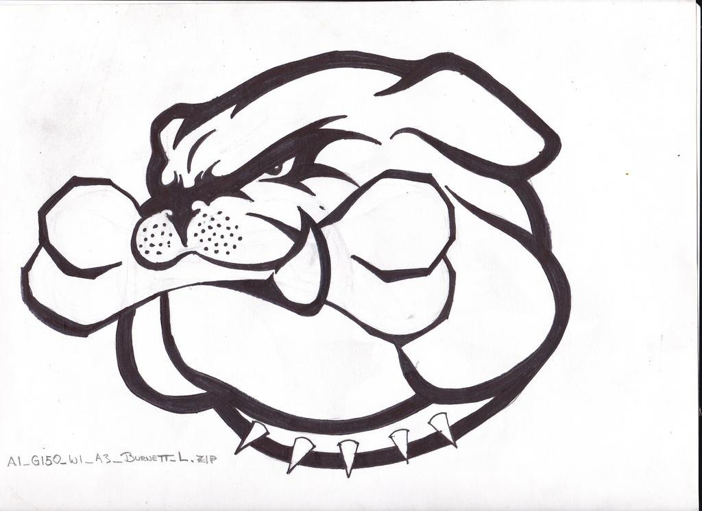 How to draw a bulldog mascot