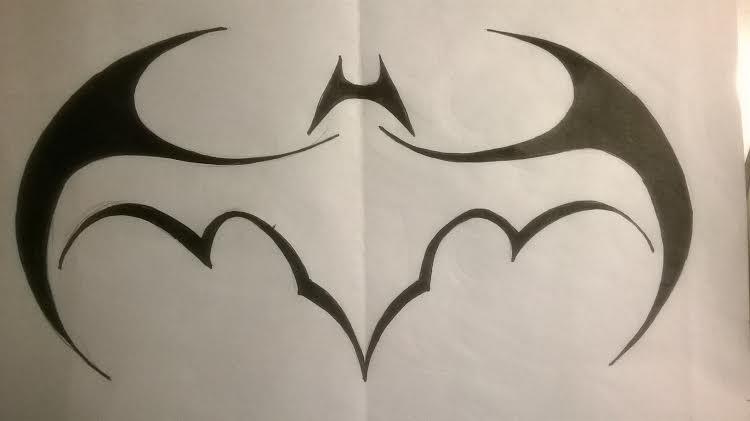 Tribal batman batwing logo by lrayjus21 on deviantart for Batman logo tattoo