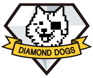 Happy Diamond Dogs Magnet by waterwriter144