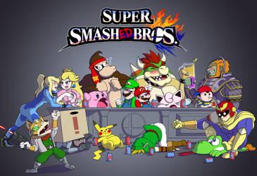Super Smashed Bros Bar by waterwriter144