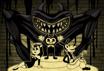 Showtime with Bendy and Friends by waterwriter144