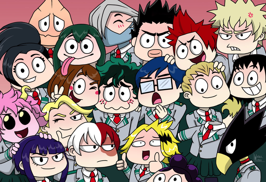 Group Selfie of Class 1A by waterwriter144