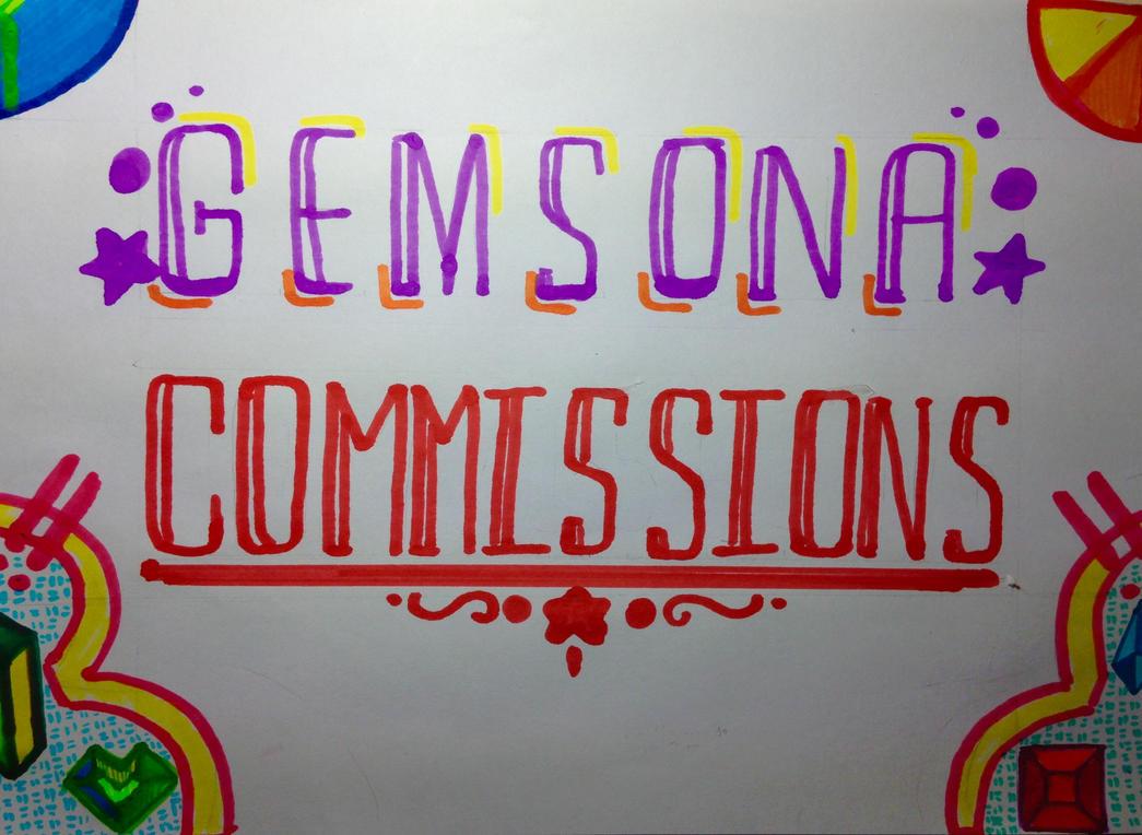 Gemsona Commissions Grand Opening!! by cyceri