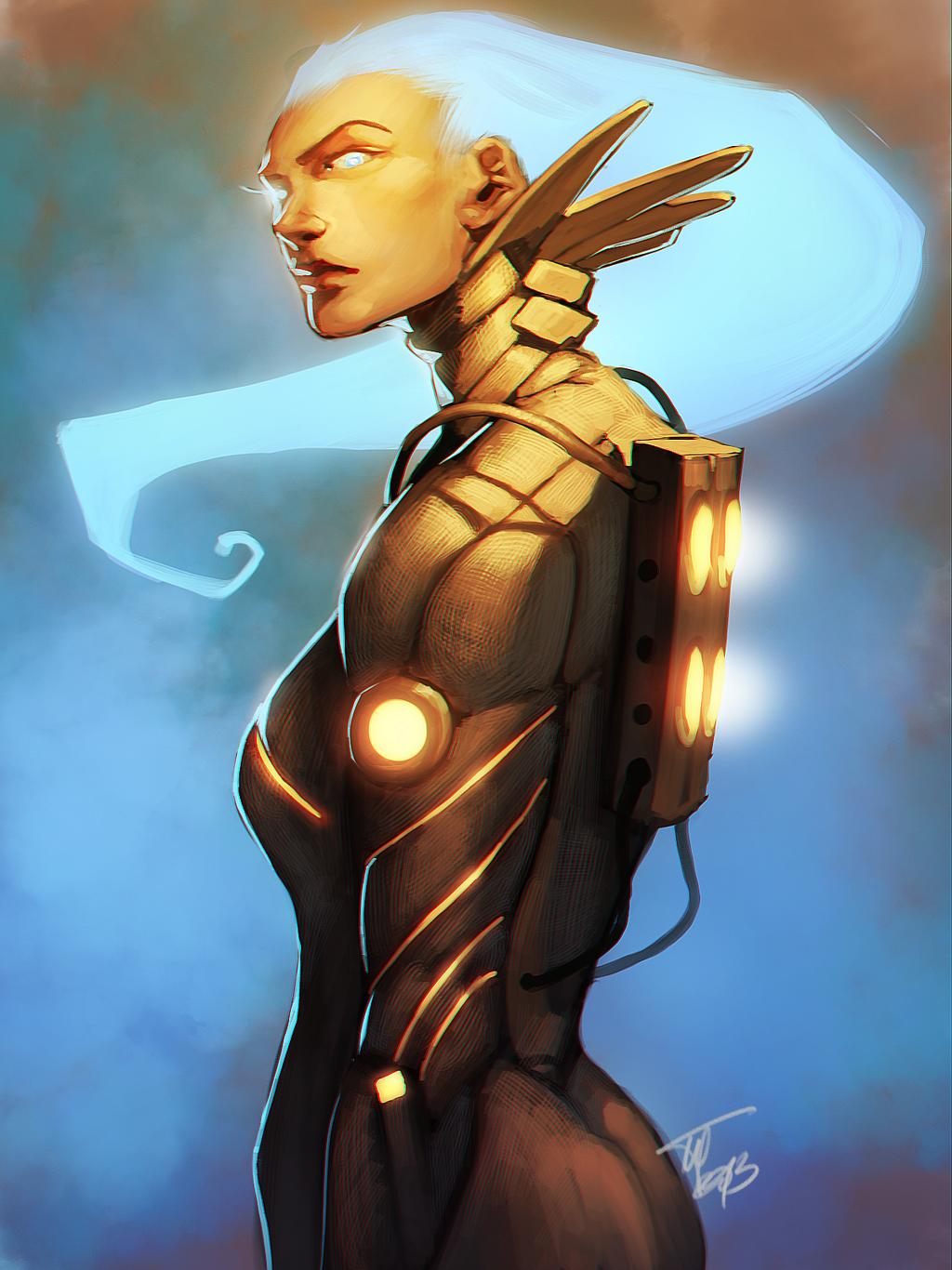 Cyborg Girl by MugenMcFugen