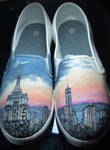 Cityscape Custom shoes
