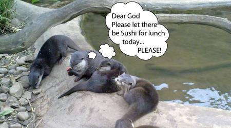 Praying Otter by MiaVida