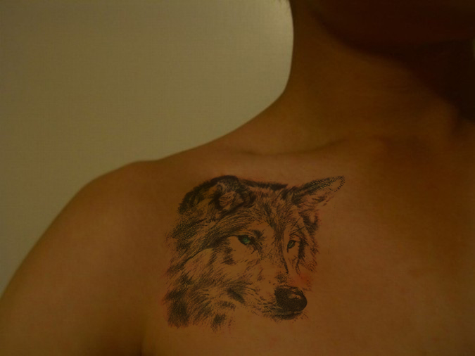 Wolf - Shoulder Tattoo