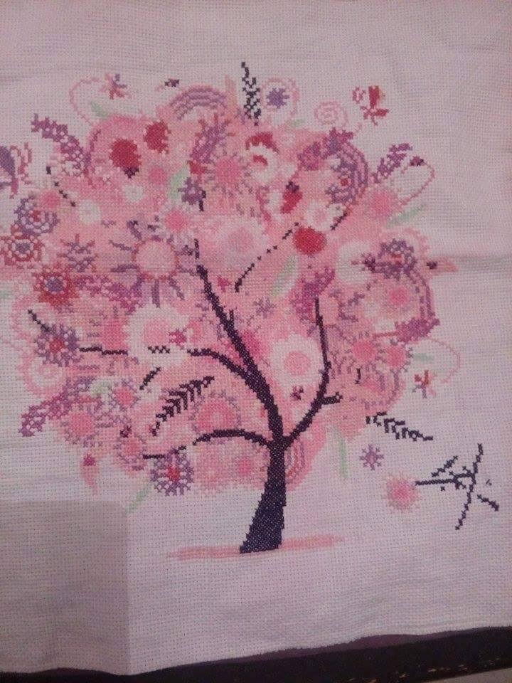 tree cross stitch end! by LaBoiteABroderie