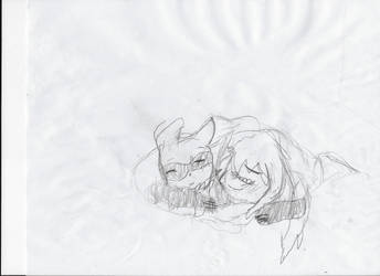 Papi and Goroku, sharing a blanket... wait by AskRuilmon