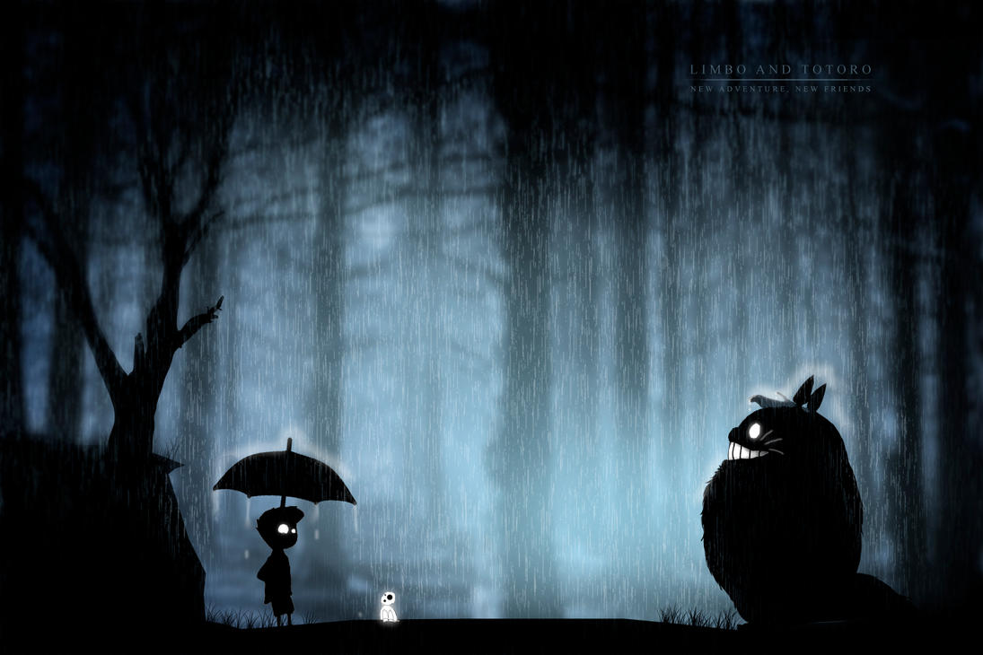 Limbo Totoro by skatanar