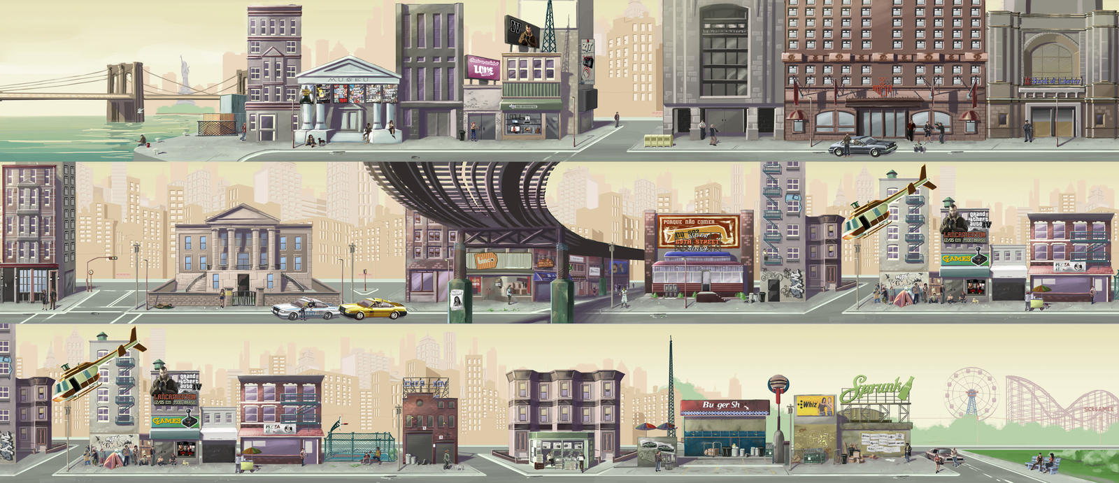 GTA IV - Liberty City by Wilustra