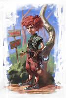 The Little Warrior by Wilustra