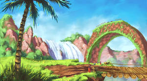 Green Hill Zone by Wilustra