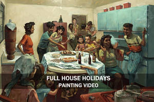 Full House Holidays || PAINTING TIME-LAPSE ||