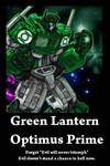 Green Lantern Optimus Prime Demotivational Poster