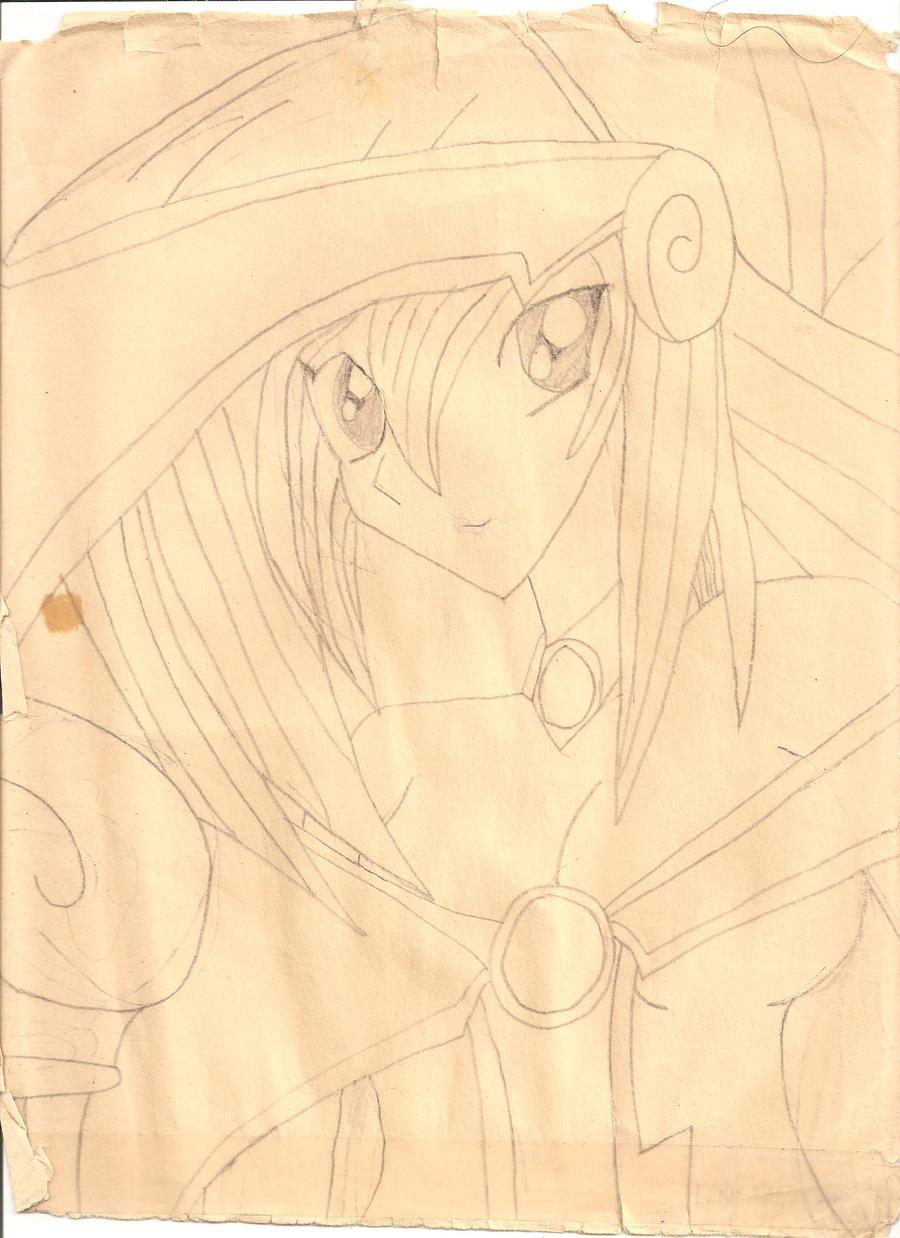 dark magician girl scetch