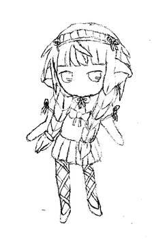 LunaSquareEnix@gaiaonline Chii cosplay sketch