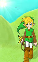 Legend of Zelda- Link w classic zelda colors.