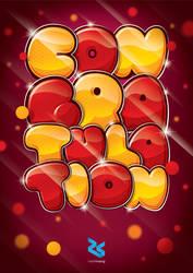 Congratulation Typo Poster by rabbit-hoang