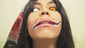 - Slit-Mouthed Woman - Makeup 3