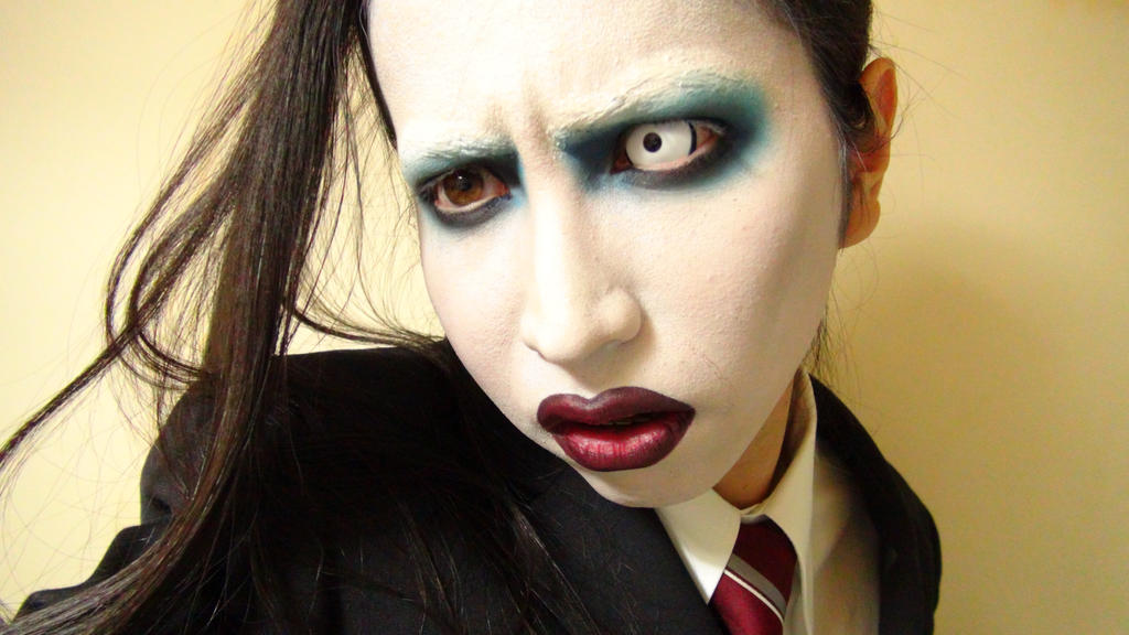 3rd* Marilyn Manson - Makeup 3 by KisaMake on DeviantArt