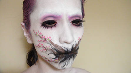 - Cherry Blossom Tree - Makeup 2 by KisaMake