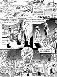 Sci-fi Manga Page by Azulla-00