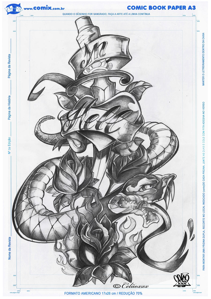 Top Vs Hell Drawings Images for Pinterest Tattoos