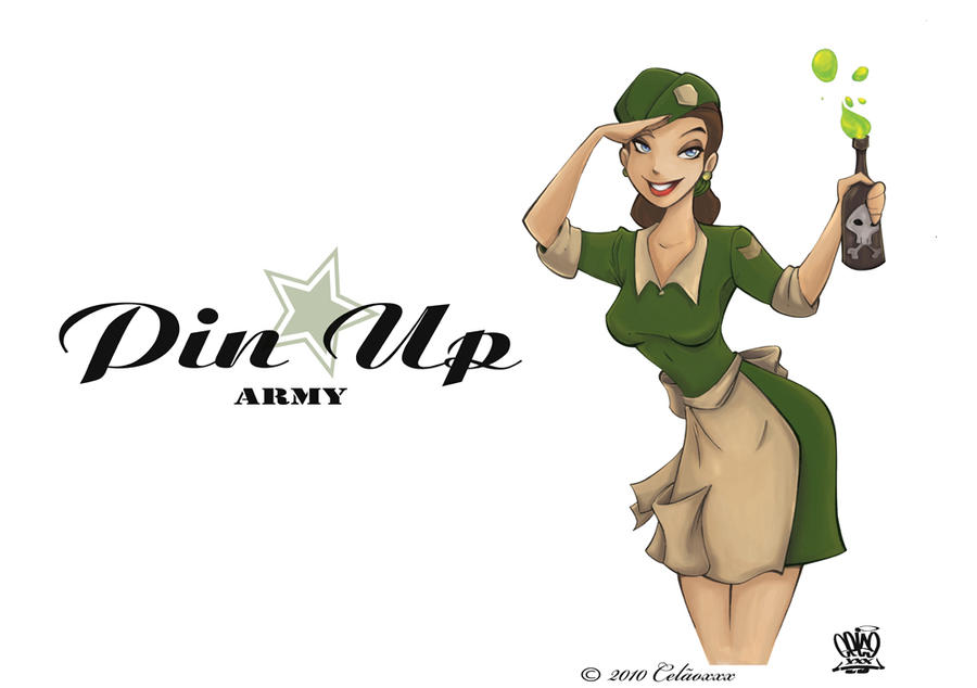 Pin up Army by celaoxxx