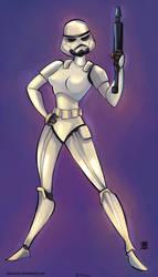 Storm troopers Female Star Wars by celaoxxx