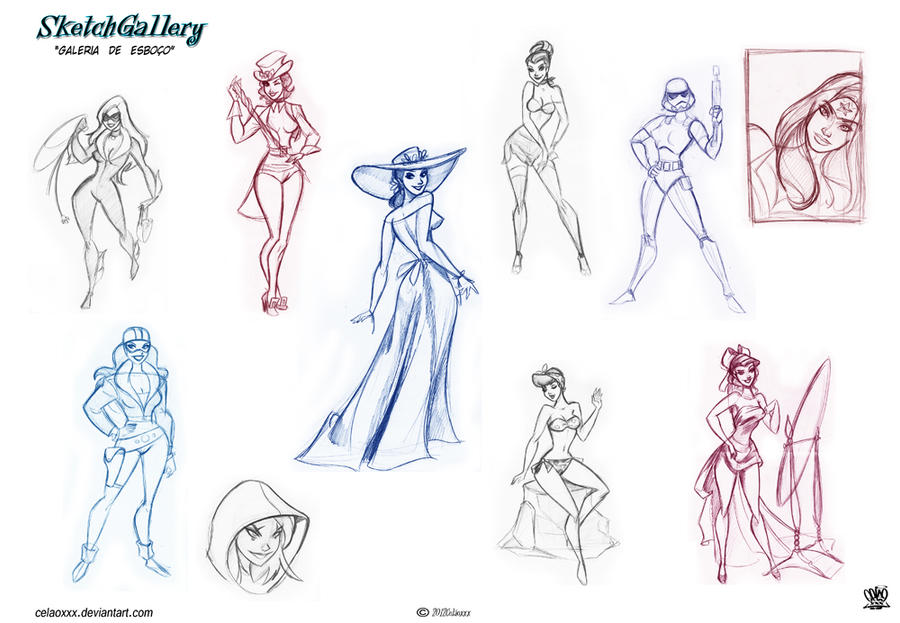 Pin up Sketch gallery by celaoxxx on DeviantArt