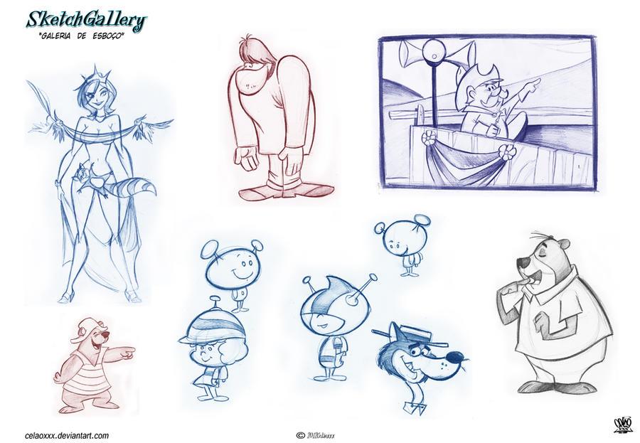 Hanna Barbera sketch page 5 by celaoxxx