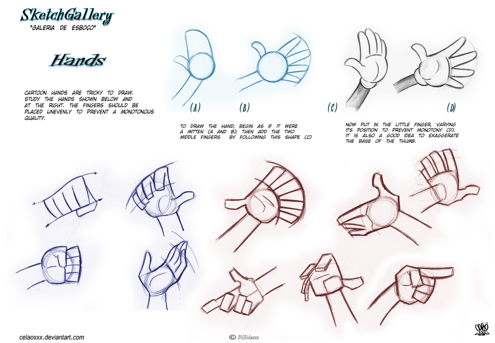 How to draw hands by celaoxxx by celaoxxx