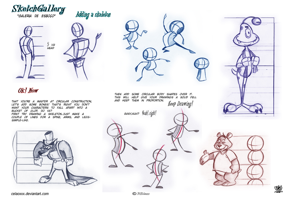 How to draw cartoon character desing by celaoxxx
