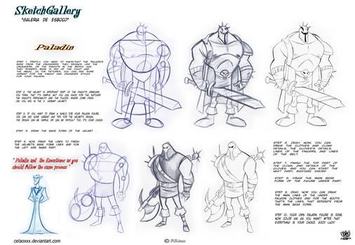 how to draw Paladin