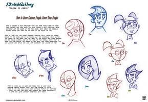 How to Draw Cartoon People Draw Toon People by celaoxxx