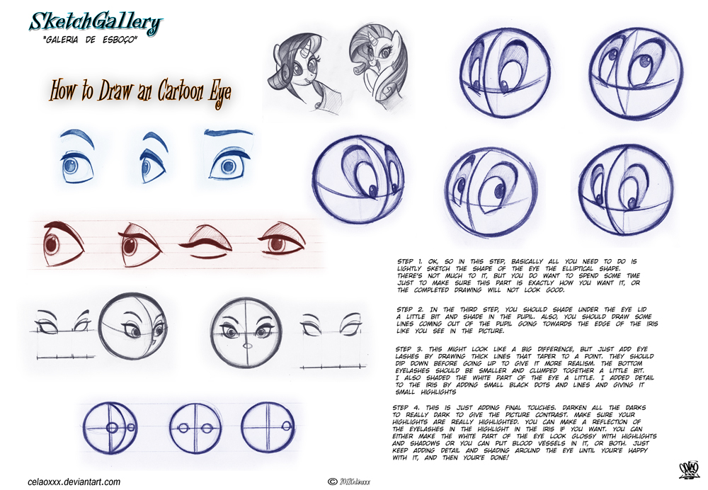 How to draw Cartoon eye by celaoxxx