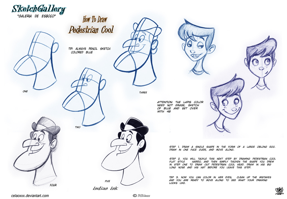 How to draw pedestrian cool head by celaoxxx on deviantart for Cartoon body tutorial